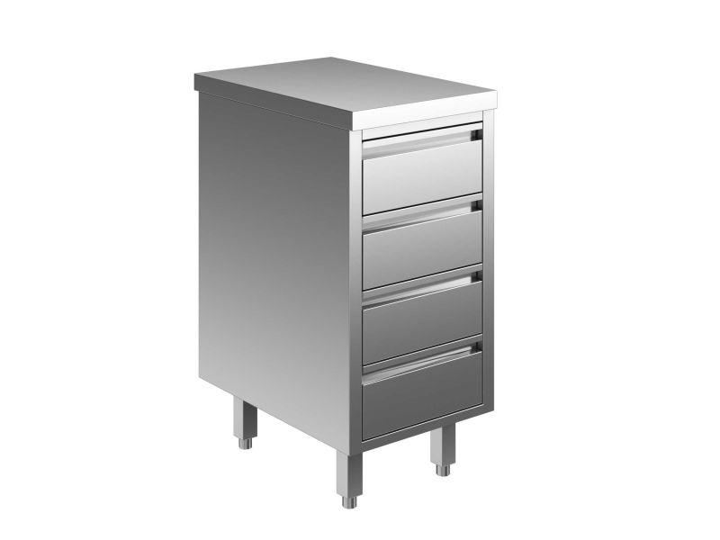 Eu05536 04 cassettiera c4 eco cm 40x60x85h piano liscio for C4 arredamenti