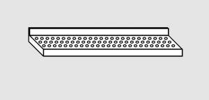 EU63801-12 ripiano a parete forato ECO cm 120x28x4h