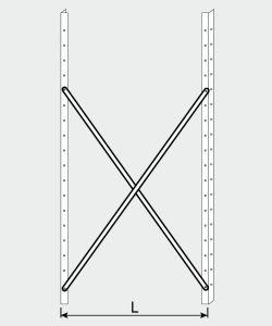 EU77009-05 crocera per scaffale ECO da cm 50
