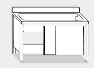 LT1024 dishwasher in stainless steel cabinet