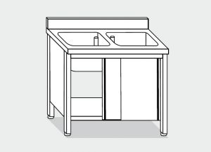 LT1037 Wash Cabinet on stainless steel