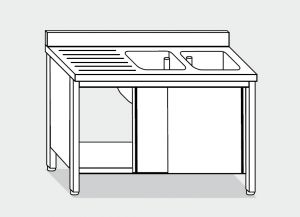 LT1049 Wash Cabinet on stainless steel
