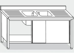 LT1050 Wash Cabinet on stainless steel