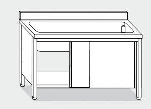 lave-vaisselle LT1053 dans le cabinet en acier inoxydable