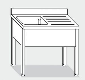 Laver LT1093 sur les jambes en acier inoxydable