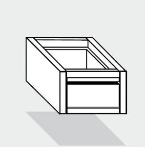 EUG2073-46 cassetto singolo ECO e40 cm 40x60x25hsotto tavolo guide inox semplici