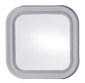 Specchio quadrato in plastica cm 46x46 - Specchio cornice bianca ...