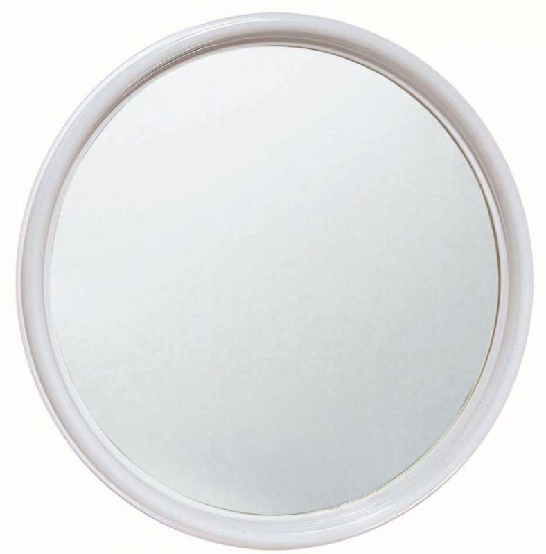 Specchio Bagno Plastica.T150005 Specchio In Vetro Rotondo Con Cornice Abs Bianca Diametro 50 Cm