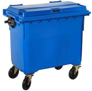 T766642 Contenitore rifiuti da esterno 4 ruote 660 litri BLU