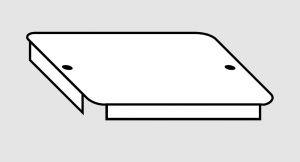 EU91010-07 Coperchio per vasca in acciaio inox dim. 60x45