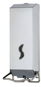 T105039 AISI 304 brushed stainless steel soap dispenser Elbow-operated 1,2 l.