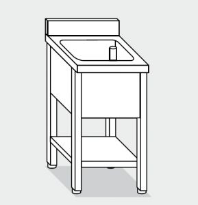 LT1120 Wash legs with stainless steel shelf