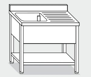 LT1124 Wash legs with stainless steel shelf