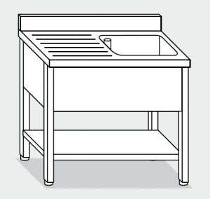 LT1125 Wash legs with stainless steel shelf