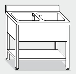 LT1131 Wash legs with stainless steel shelf