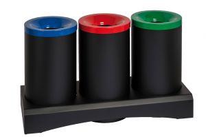 T770351 Recycling fireproof paper bin 3x50 liters