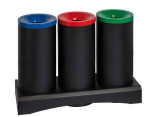 T770371 Recycling fireproof paper bin 3x50 liters