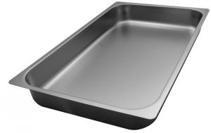 FNC1/1P065 Gastronorm 1 / 1 H65 inoxidable AISI 304 borde de acero plano