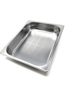 GST1/2P040F Gastronorm Container 1 / 2 h40 perforated stainless steel AISI 304