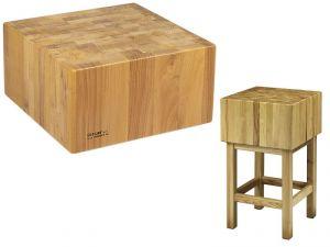 CCL2555 Bloc en bois de 25 cm avec tabouret 50x50x90h