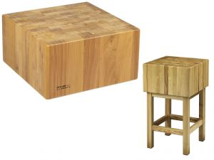 CCL2577 Bloc en bois 25cm avec tabouret 70x70x90h