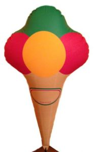 GOTX001 Cono de helado inflable 125 h cm
