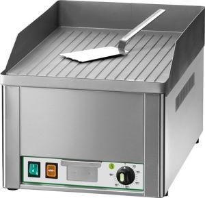 FRY1RC Fry top elettrico da banco monofase 3000W piano singolo rigato acciaio cromato