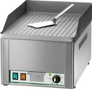 FRY1R 3000W single-phase benchtop electric griddle with single ribbed steel top