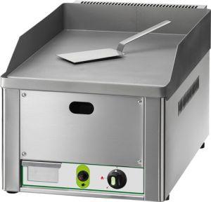 FRY1LM Fry top a gas individual placa de acero liso