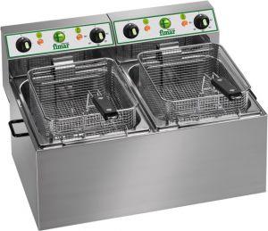 FR88 Electric fryer double 4+4 liters basins