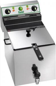 FR10R Friggitrice elettrica trifase 6 kW 1 vasca 10 litri con rubinetto