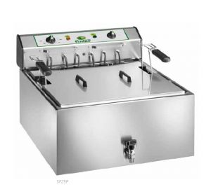 SF25P Three-phase electric fryer 9 kW 1 well 25 liters large basket