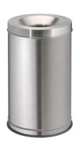 T770040 Stainless steel fireproof paper bin 120 liters
