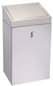 T110521 Stainless steel Push opening waste bin