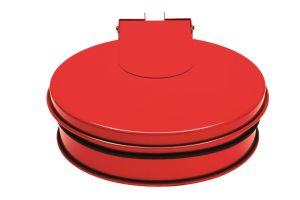 T601015 Support sac-poubelle avec couvercle acier Rouge