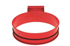 T601005  Porta sacco tondo in acciaio Rosso