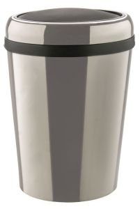 T109796 Gettacarte ovale acciaio inox con coperchio basculante ABS 60 litri