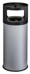 T775092 Papelera-cenicero Anti-fuego metal gris 90 litros con arena
