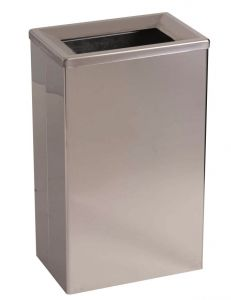 T773006 Brushed stainless steel 25 lt Waste bin