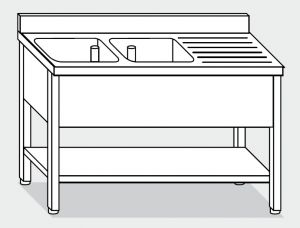 LT1167 Wash legs with stainless steel shelf