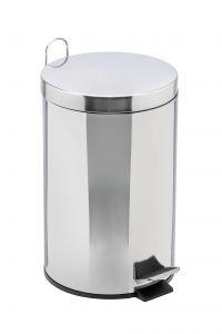 T106412 Pattumiera acciaio inox secchio galvanizzato pedale 12 litri (confezione da 2 pezzi)