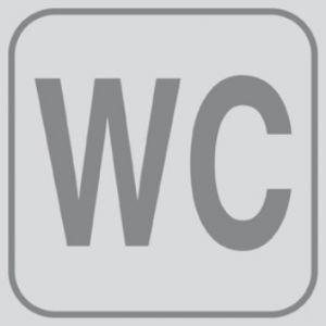 T701023 Targhetta PVC adesiva BAGNO WC (confezione da 5 pezzi)