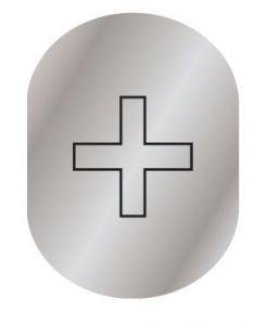 T719958 Plaque pictogramme aluminium satine Infirmerie