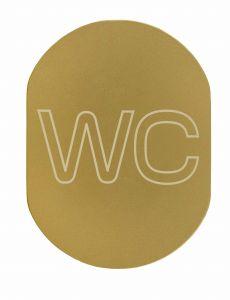 T719933 Targhetta alluminio dorato WC
