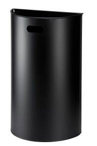 T773041 Wall mounted waste bin Black Steel 40 liters