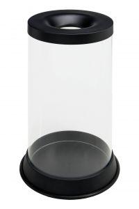 T774021 Papelera transparente ignifuga 80 litros