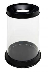T774041 Papelera transparente ignifuga 110 litros