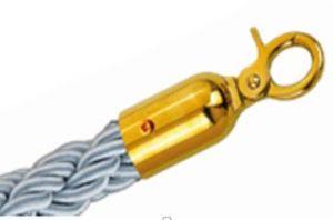 T106333 Cordone grigio gancio dorato per sistema divisorio 1,5 metri