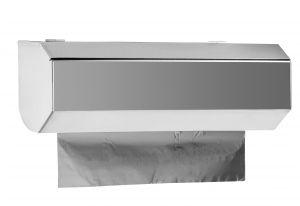 T105400 Dispenser murale di pellicola e alluminio in acciaio inox AISI 304 MINI