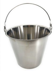 SE-G10 Stainless steel bucket graduated 10 liters